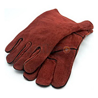 Forney Leather Lined, Rust/Gray Welding Glove (single pair)