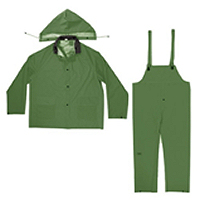 CLC Rain Gear 3 Piece Army Green Rainsuit 0.35 mm
