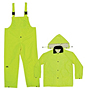 CLC Rain Gear 3 Piece Fluorescent Yellow Rainsuit 0.25 mm