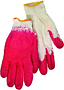 Cotton Glove With Red Plastic Dipped 22CM Bulk 10 Pair