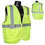 Radians SV2Z Economy Class 2 Vests with Zipper Closure